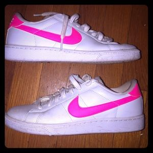 Hot Pink And White Shell Toe Nike